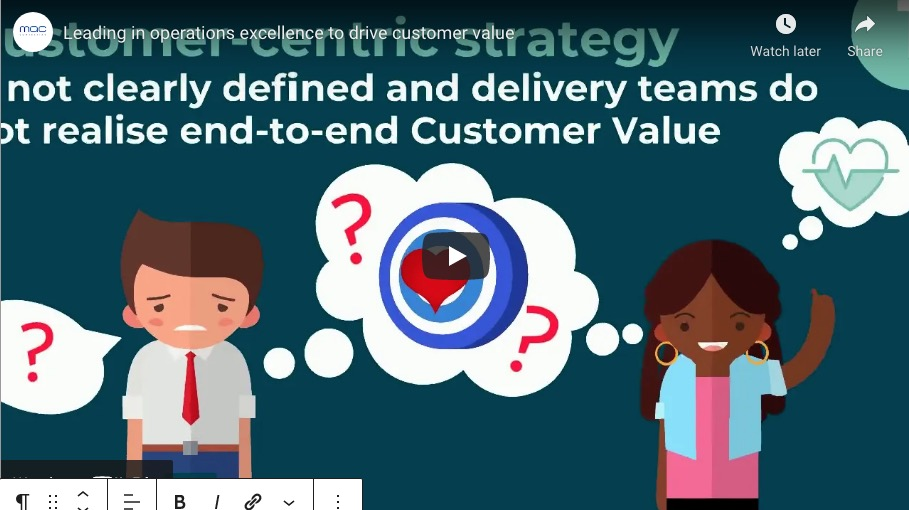 Leading in Operations Excellence to Drive Customer Value