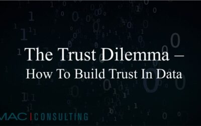 The Trust Dilemma – how to build trust in Data