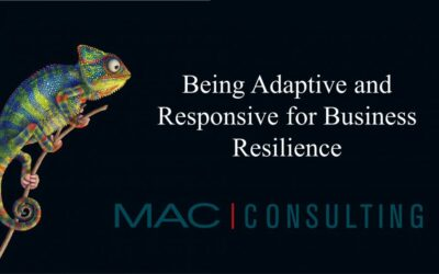 Part 1 of 3: Being adaptive and responsive for business resilience
